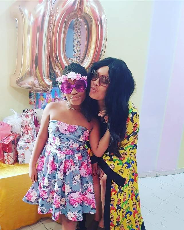 Monalisa Chinda celebrates as her daughter turns 10