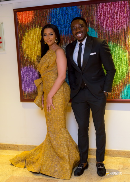 Bovi and Mimi Fawaz step out in style for the NFF Awards