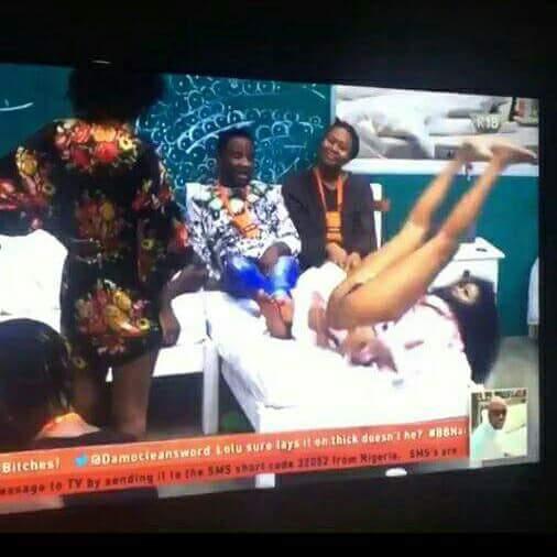 #BBNaija Princess bares her butt (Watch)
