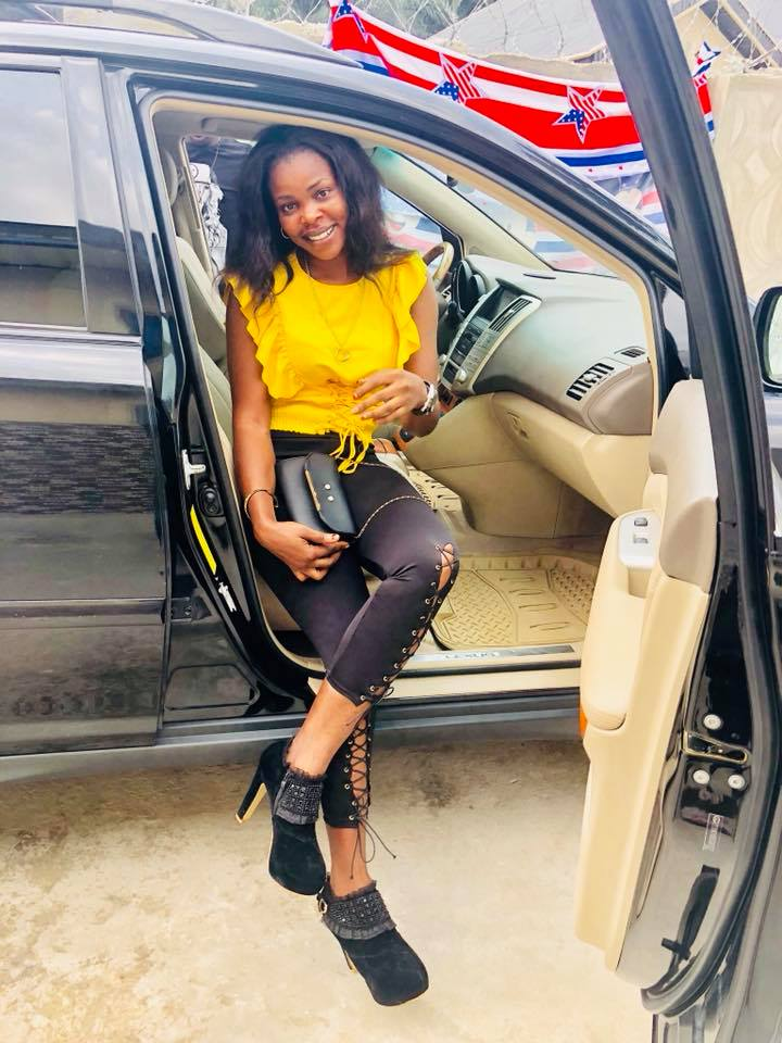 Photos: Female POP designer celebrates as she buys Lexus Jeep