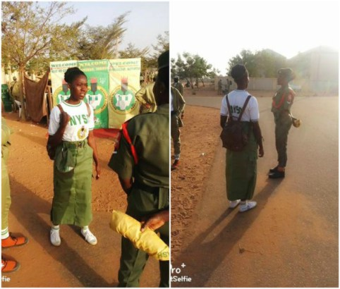 Born-Again Corper Slays In Khaki Skirt