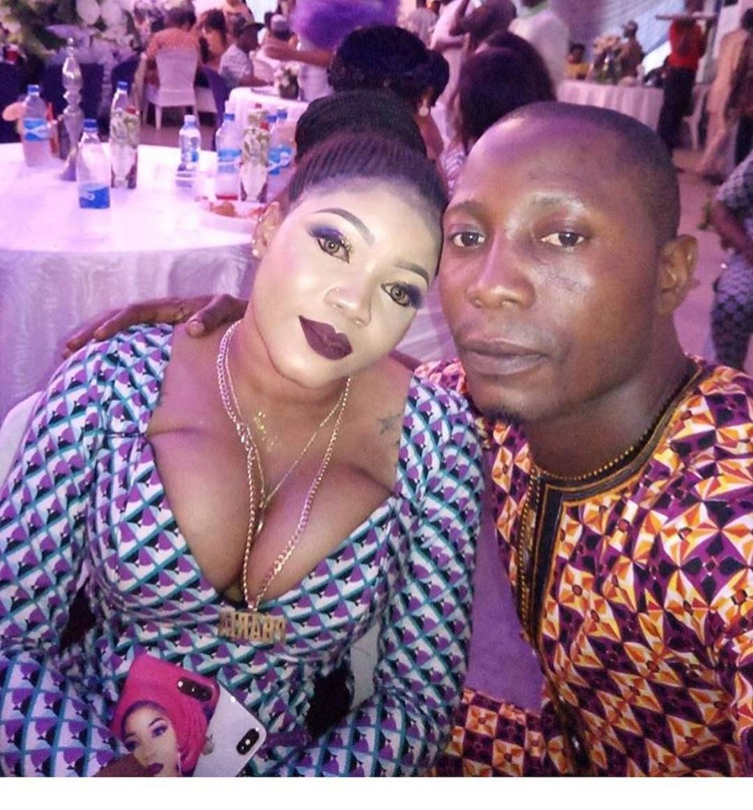 Endowed female guest at Omotola's party has people talking