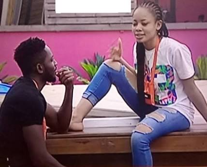 Image result for #BBNaija: Nina disappointed as Miracle refuses to have sex with her