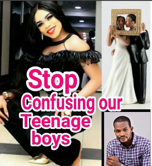 Stop confusing our teenage boys with your mumu over-filtered look- Uche Maduagwu tears into Bobrisky