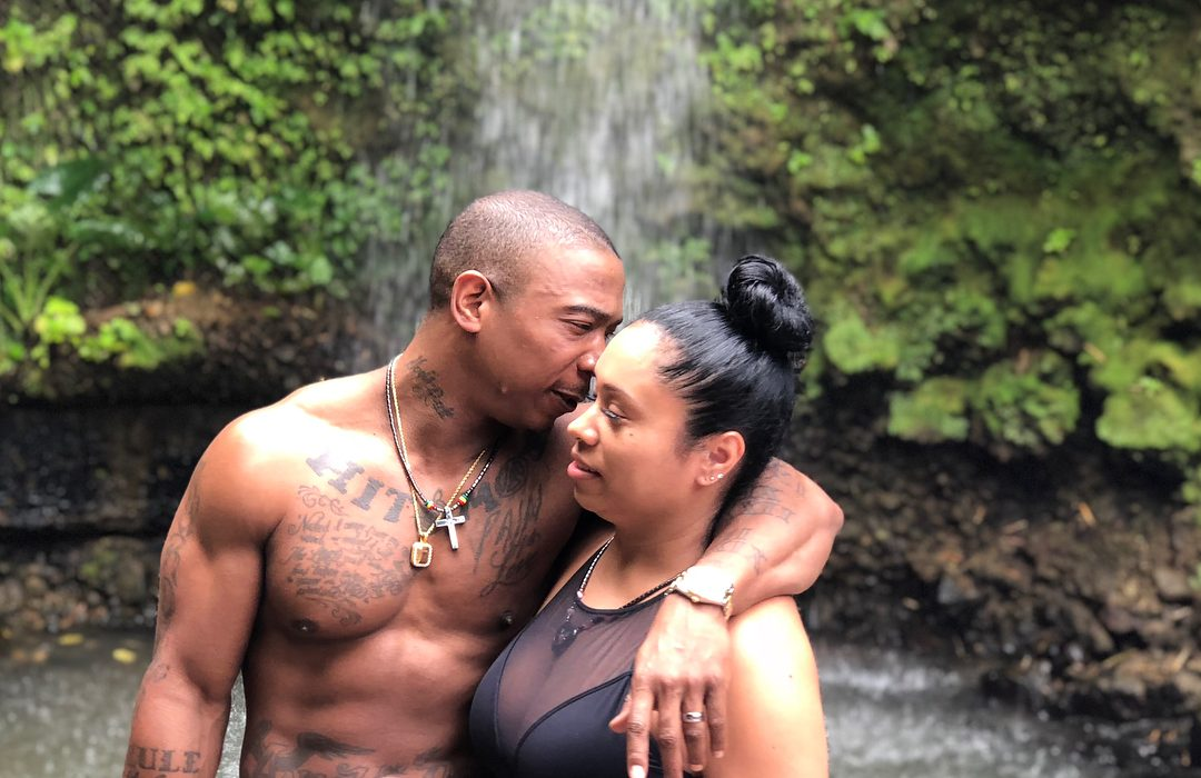 Ja Rule and wife loved up during romantic swim