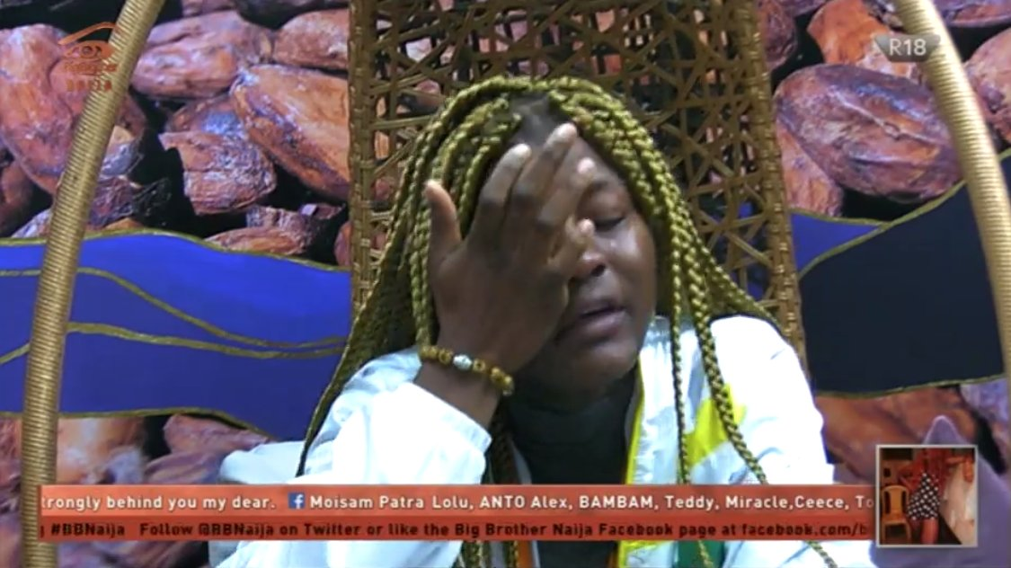 #BBNaija 24 hours later,Alex is still weeping over Leo's eviction