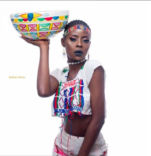 #BBNaija evicted housemate Khloe stuns in Fulani outfit