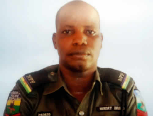 Wife cries out over missing policeman