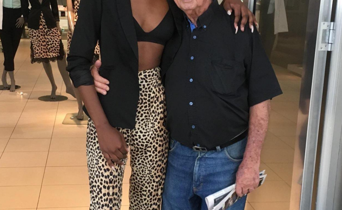 "South African model under fire over photo with ""elderly white husband"""
