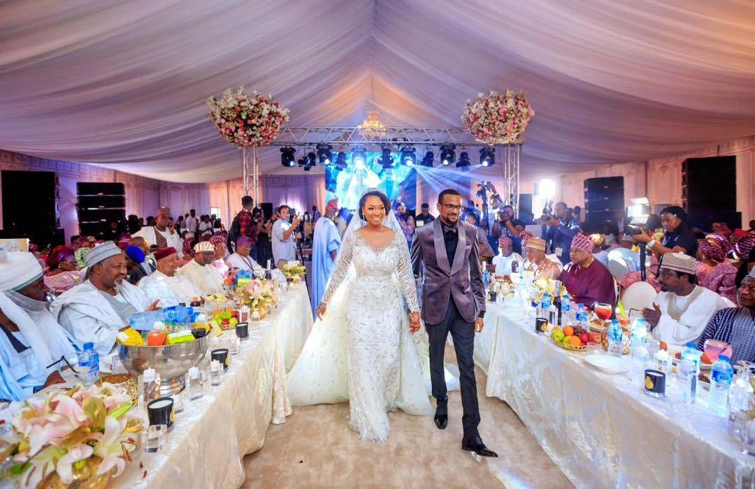 Fateema Ganduje is stunning in her Zuhair Murad wedding dress