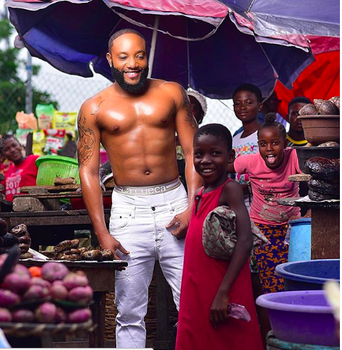 Kcee goes semi-nude for the gram