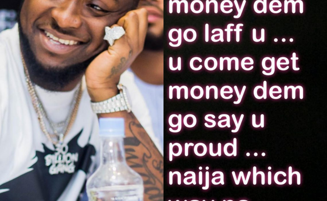 Davido wonders why Nigerians are like this…