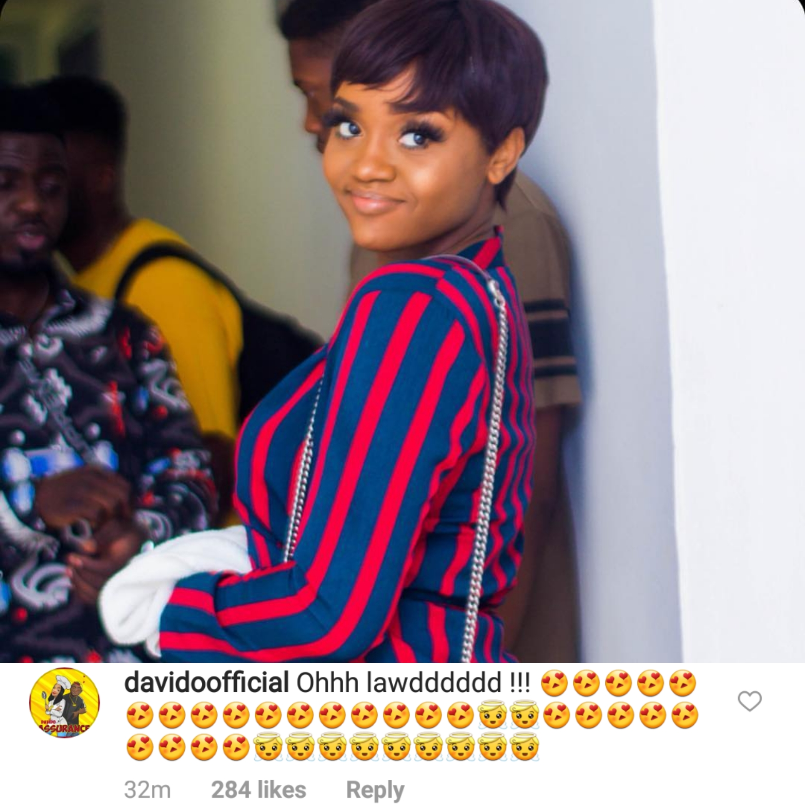 Davido's Reaction To Girlfriend, Chioma's New Photo Is Everything