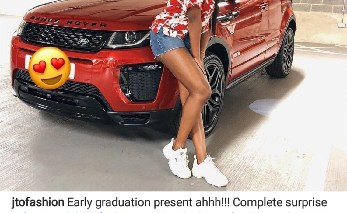 Temi Otedola's billionaire dad gifts her with Range Rover