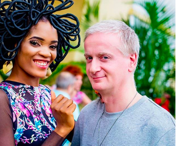 Nigerian model whose hair is worth N40million shows off her man