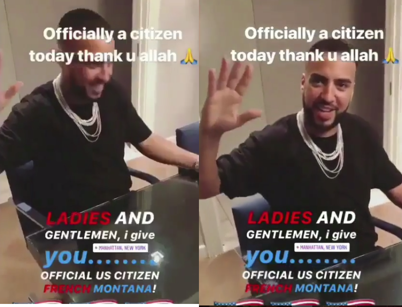 French Montana celebrates as he officially becomes a U.S citizen
