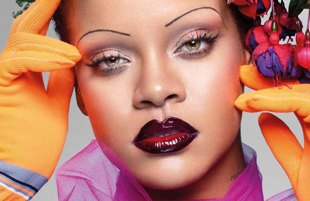 Rihanna 'shaves' her entire eyebrows for British Vogue