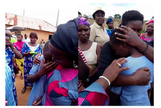 Schoolgirl breaks down in tears after returning from boarding school to learn that her father had been killed in the Plateau attack