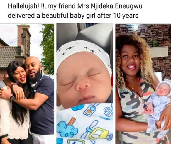 Nigerian woman gives birth to baby girl after 10-years of marriage