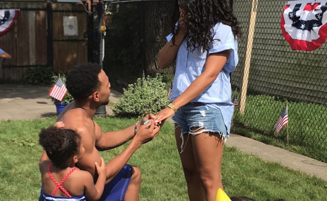 Chance The Rapper proposes to his longtime girlfriend