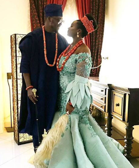 See photos from the wedding ceremony of daughter of the former Enugu state governor Sullivan Chime