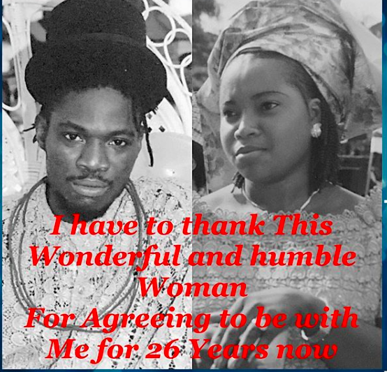Daddy Showkey celebrates 26th wedding anniversary