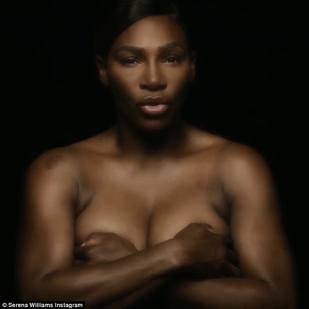 Serena williams goes topless for cancer awareness
