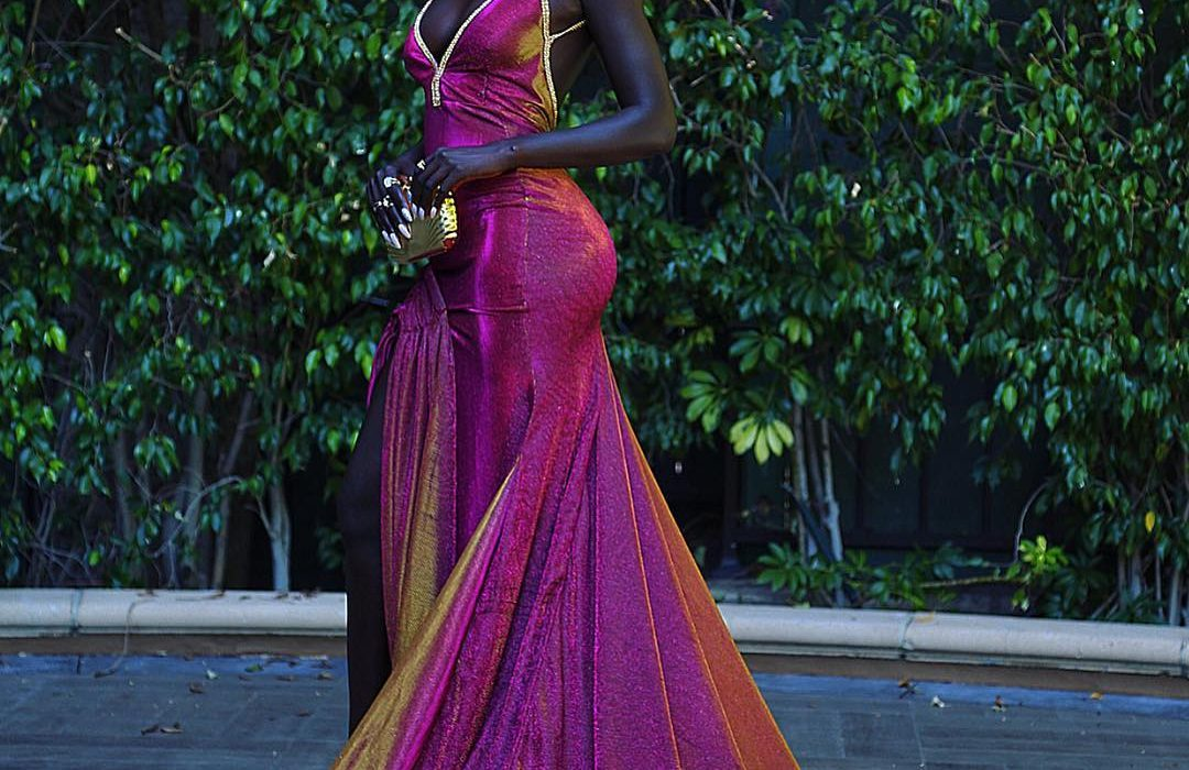 Sudanese model Nyakim Gatwech turns heads at the 2018 Emmys
