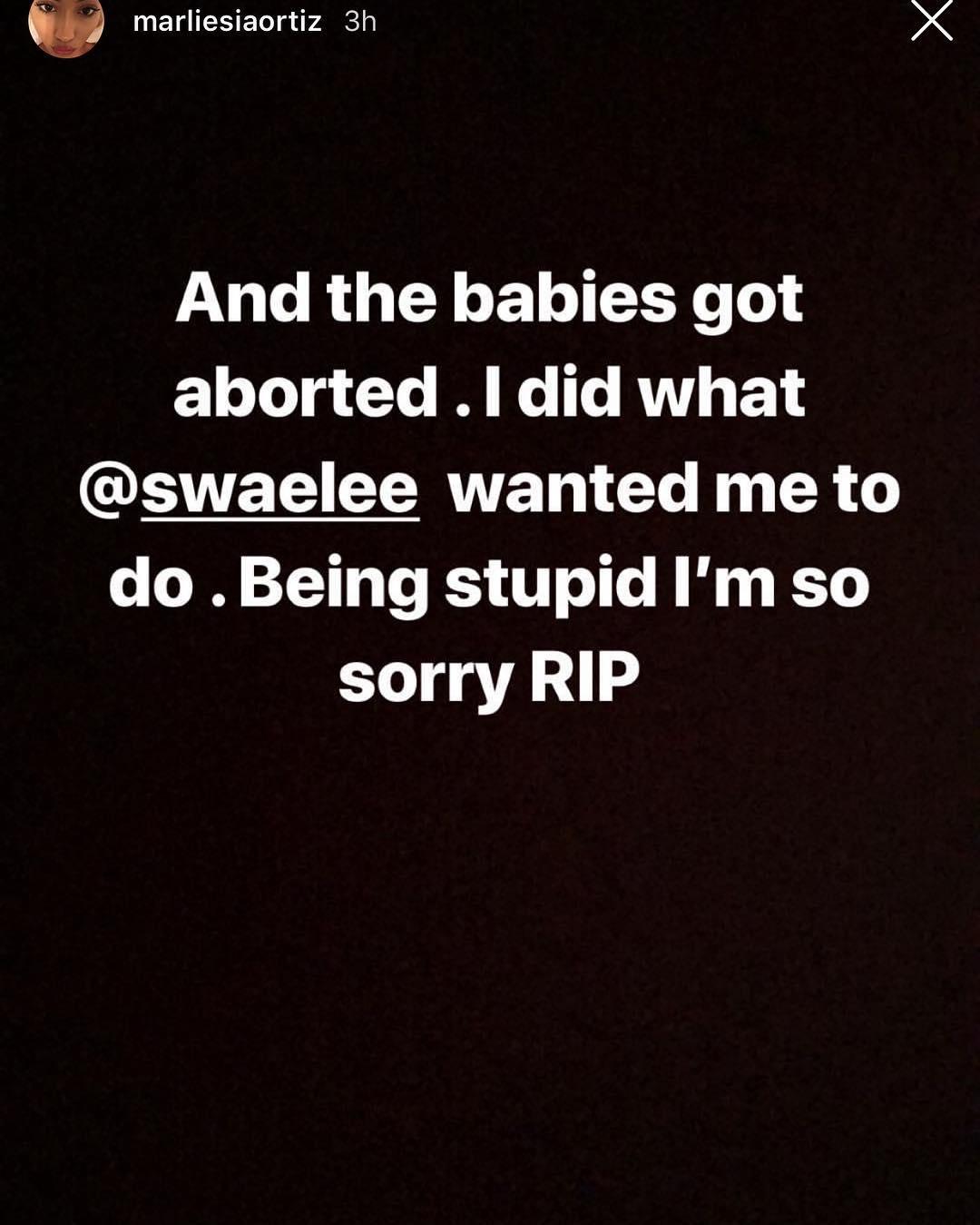 Swae lee girlfriend attempts suicide