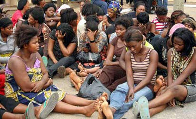 8 Ghanaian ladies arrested at Lagos airport for human trafficking