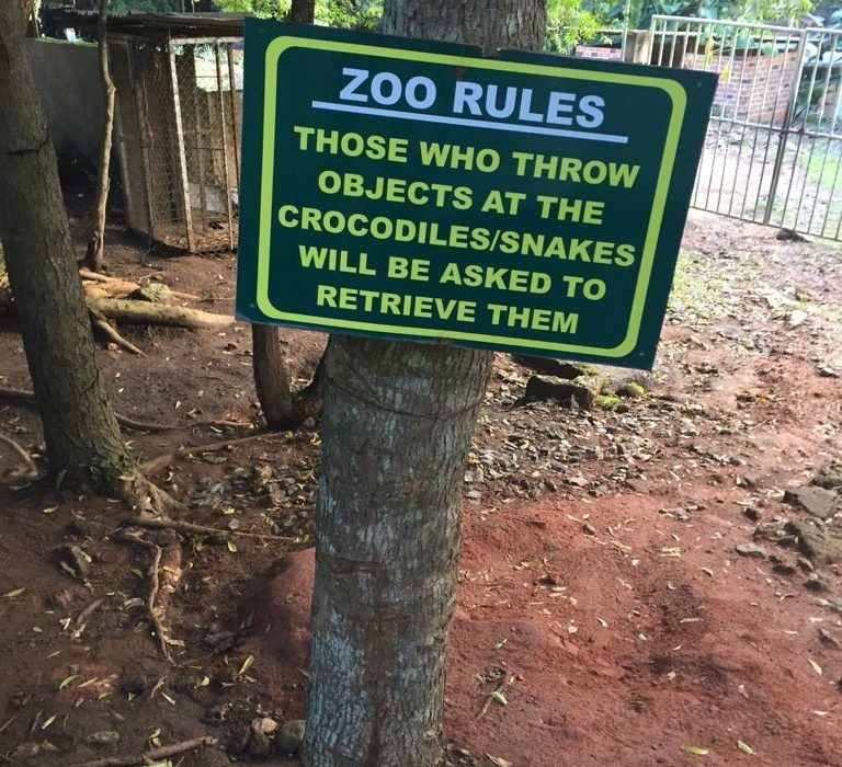 Check out this hilarious signboard at a zoo in Abeokuta
