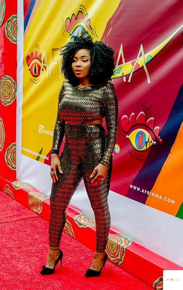 Krystn Enem steps out in style at AFRIMMA Awards 2018