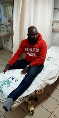 Photos: Atiku supporter who rode bicycle from Owerri to Abuja ,collapses