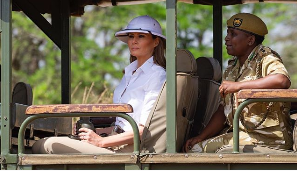 Melania Trump responds to backlash for wearing colonial hat