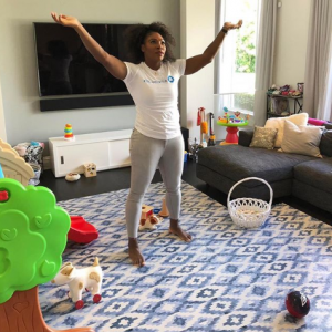 Serena Williams living room