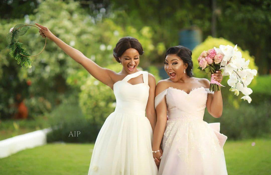 Adesua Etomi reveals why Linda Ejiofor wore a pink wedding gown