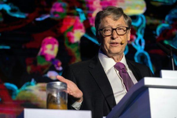 Bill Gates shocks audience by showing off a jar of poop