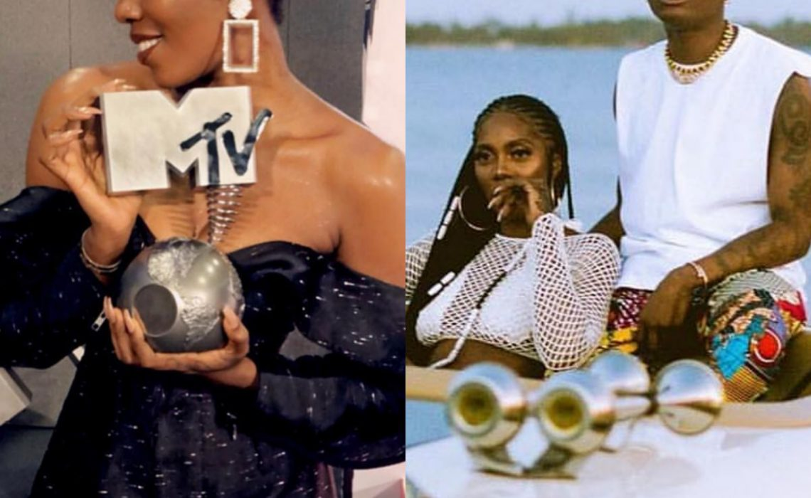 Wizkid congratulates Tiwa Savage on her MTV EMA win