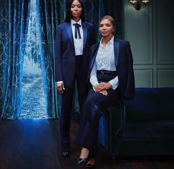 Naomi Campbell and Mother sets Family Goal Modeling for Burberry(photos)