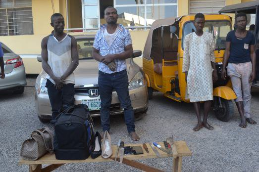 Police parade 4 'one chance' suspects