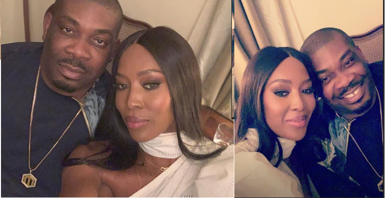 Donjazzy left star struck after meeting Naomi Campbell
