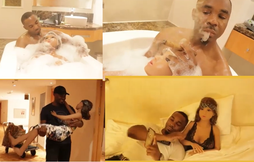 Photos/Video: Pretty Mike and his sex doll have a romantic date