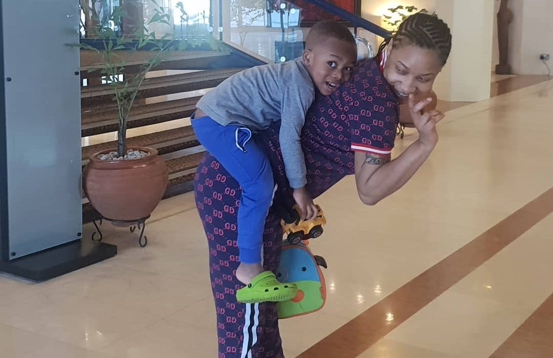 Tonto Dikeh shares adorable photo with her son,prays for barren women