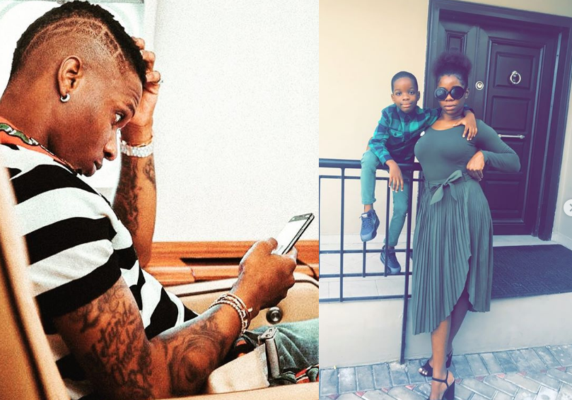 Wizkid's first babymama,shades him on Twitter
