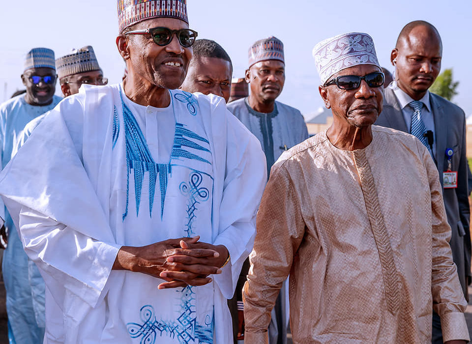 Photos: President Alpha Conde of Guinea visits President Buhari in Daura to celebrate Sallah